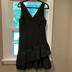 Vince Camuto Little Black Ruffled Dress size 14